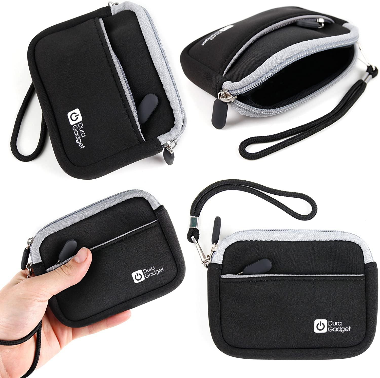DURAGADGET Black Compact Camera Case with Secure Zip Closure for Sony DSC-WX50 / DSC-W690 / DSC-TX20