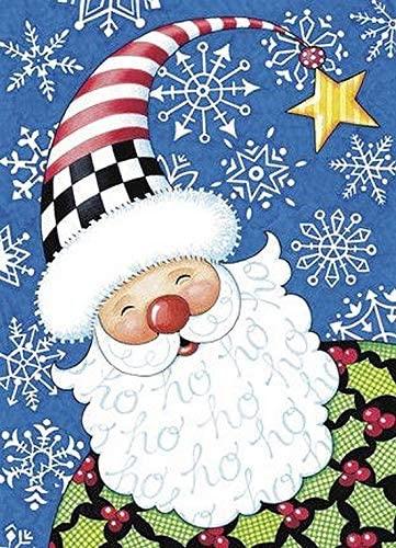 5D Full Drill Christmas Diamond Painting Kit,UNIME DIY Diamond Rhinestone Painting Kits for Adults and Children Diamond Arts Craft Home Decor 12 x 16 inch (Christmas Santa Diamond Painting)