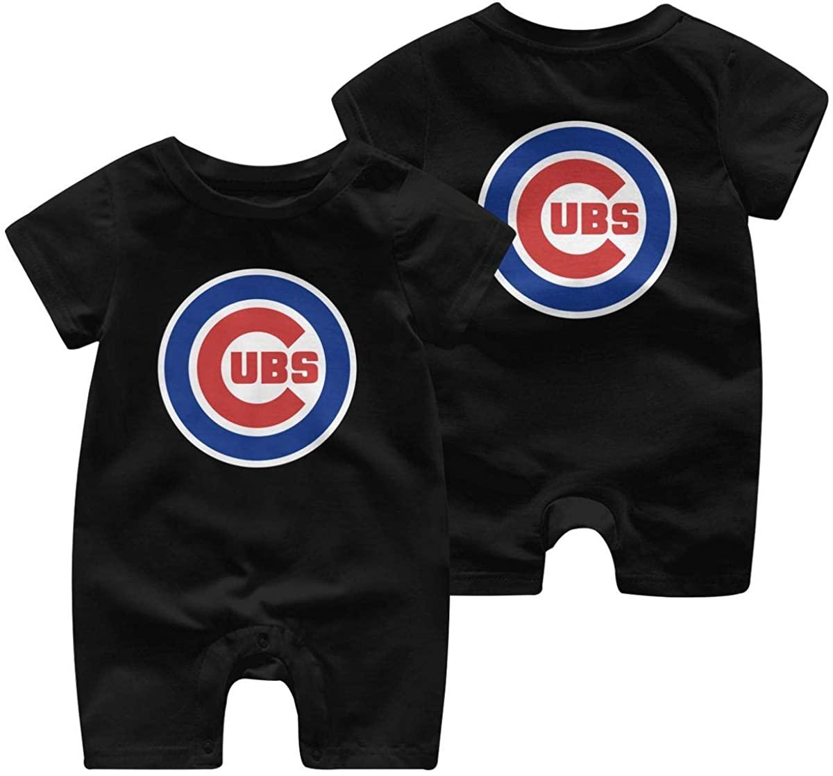 Chicago City Skyline Cu-Bs Cotton Infant Baby Bodysuit Short Sleeve Romper Jumpsuit Baby Clothes