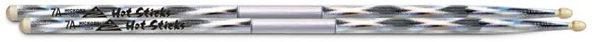 Hotsticks Macrolus Wood Tip 7A Drumsticks - Silver