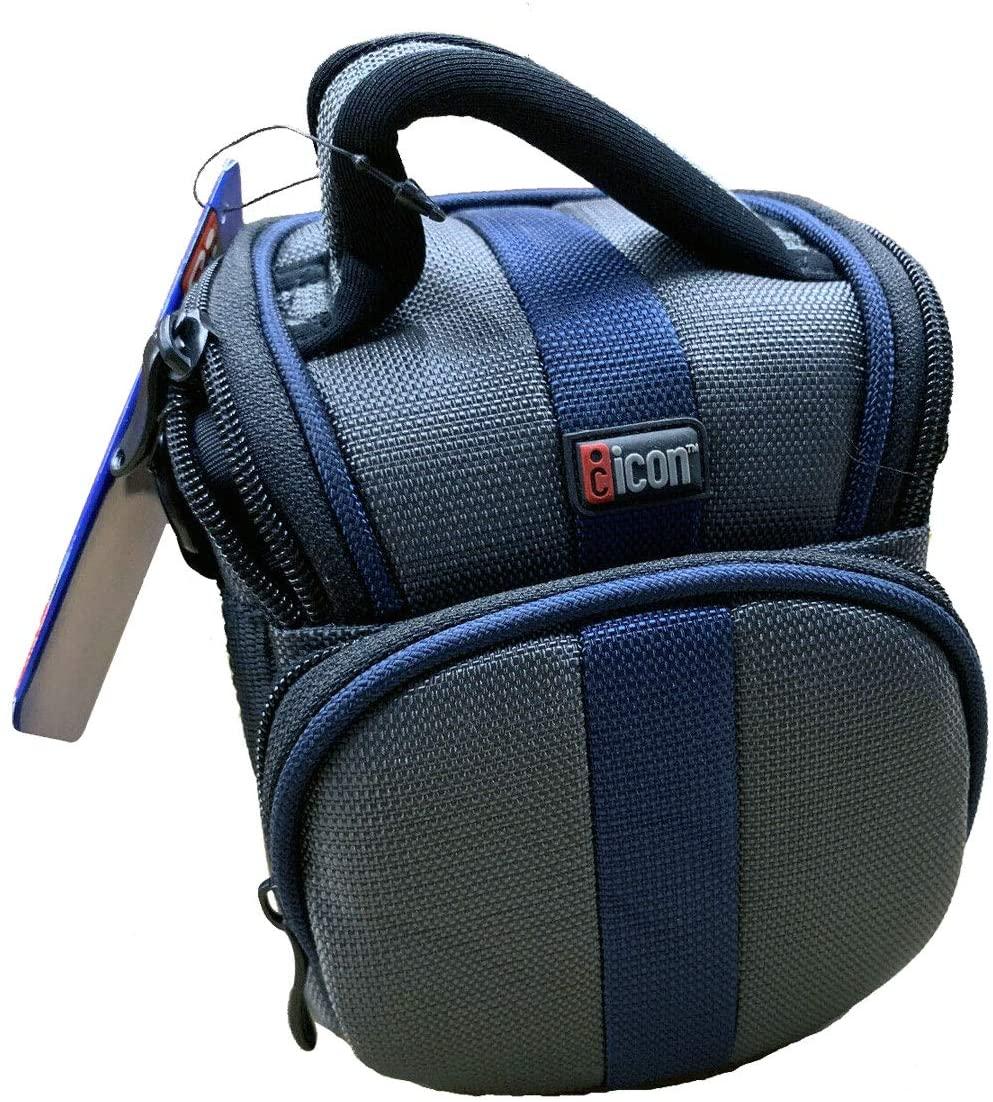 Icon SP25-BLU Large Digital Camera/Compact Camcorder Case (Blue)