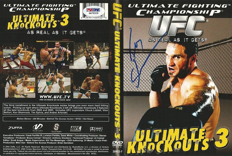 Ken Shamrock & Tim Sylvia Signed UFC Ultimate Knockouts 3 DVD PSA/DNA COA Auto'd - Autographed UFC Miscellaneous Products
