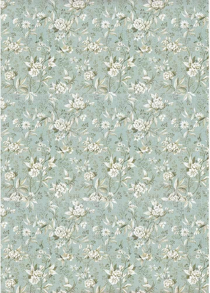 STAMPERIA INTERNATIONAL, KFT Rice Paper Pack A4, us:one size, Jasmine on Light Blue Background