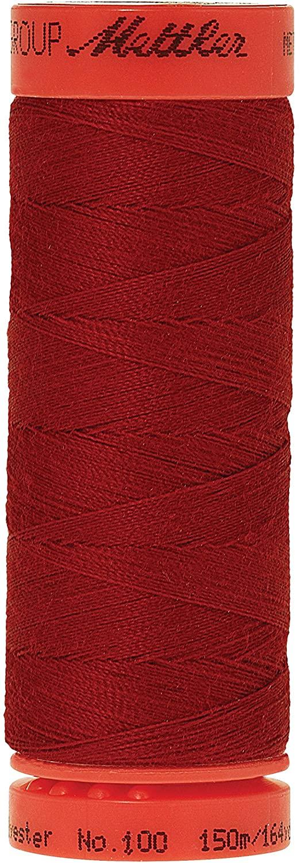 Mettler Metrosene 100% Core Spun Polyester Thread, 165 yd, Country Red