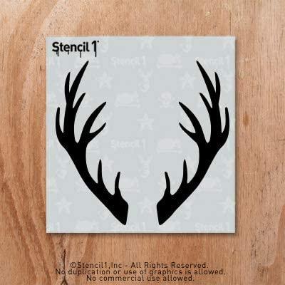 Stencil1 Antlers Stencil 5.75 x 6