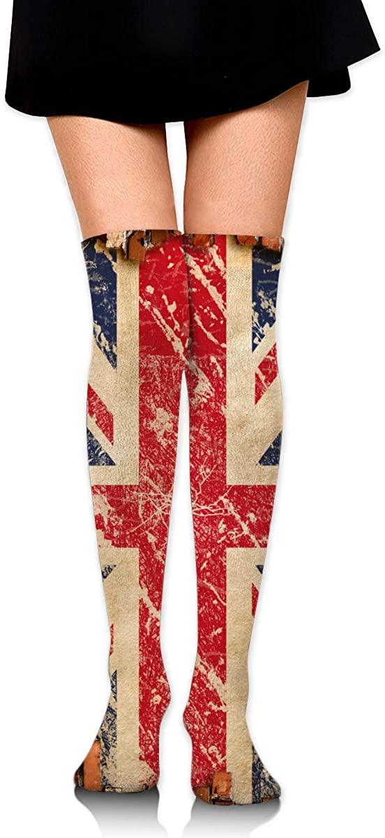 Knee High Socks British Flag Womens Athletic Over Thigh Long Stockings