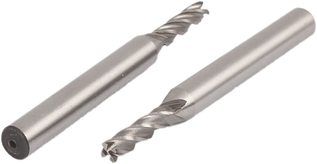 uxcell 1/8 Inch Cutting Dia 4 Flutes Straight Shank HSS-AL End Mill Router Bit 2pcs