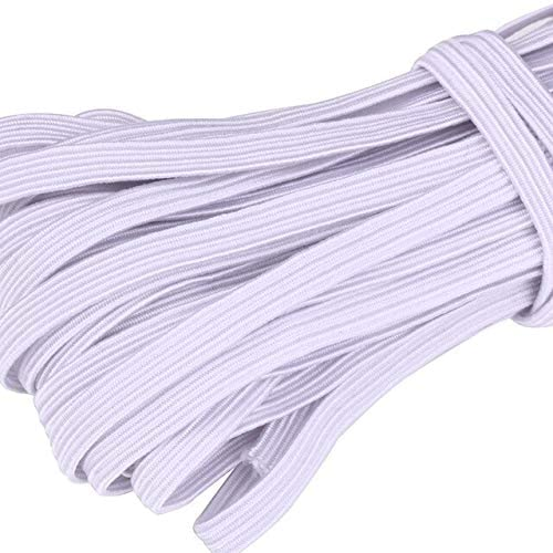 3/4/5/6/8/10mm Flat Knitted Elastic Band White Black Polyester Sewing Stretch Rope Elastic Rubber DIY Garment Accessories - White - 6mm