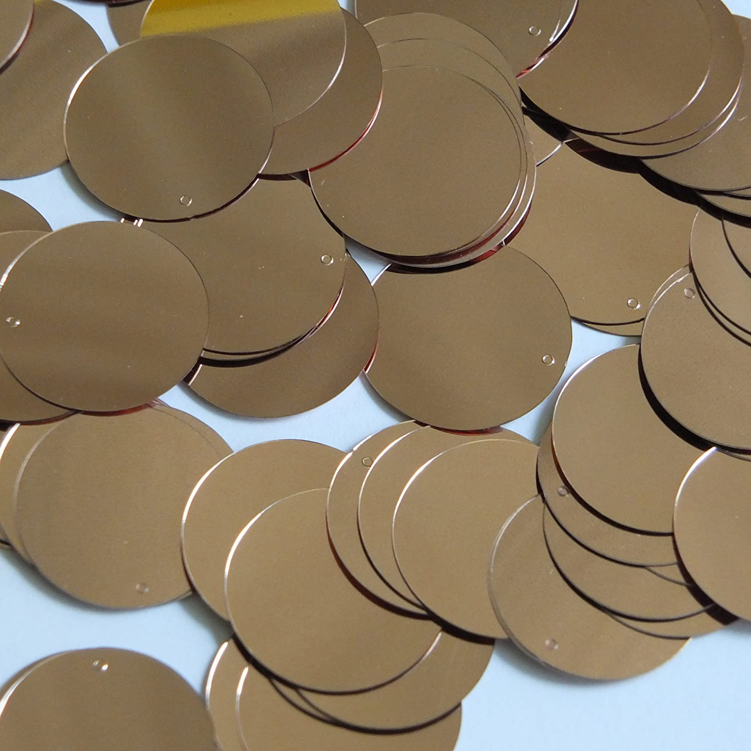 Round Sequin 24mm Rose Gold Metallic Loose Couture Paillettes