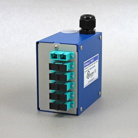 DINSpace SNAP-12SC-MM OM3/4 Compact Fiber Optic Patch Panel