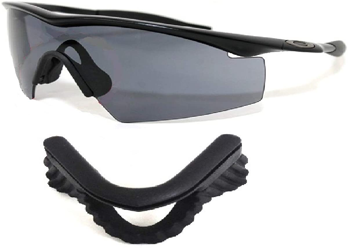 Galaxy Replacement Lenses For Oakley M Frame Heater Vented Sunglasses Multiple-Option (_Nose Pad Black)