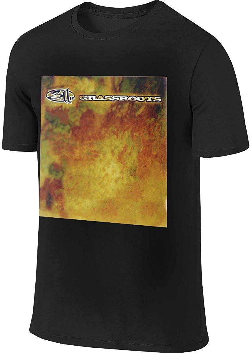 Kaihngl 311 Grassroots Men's Round Collar Short Sleeve T Shirt,Shirt