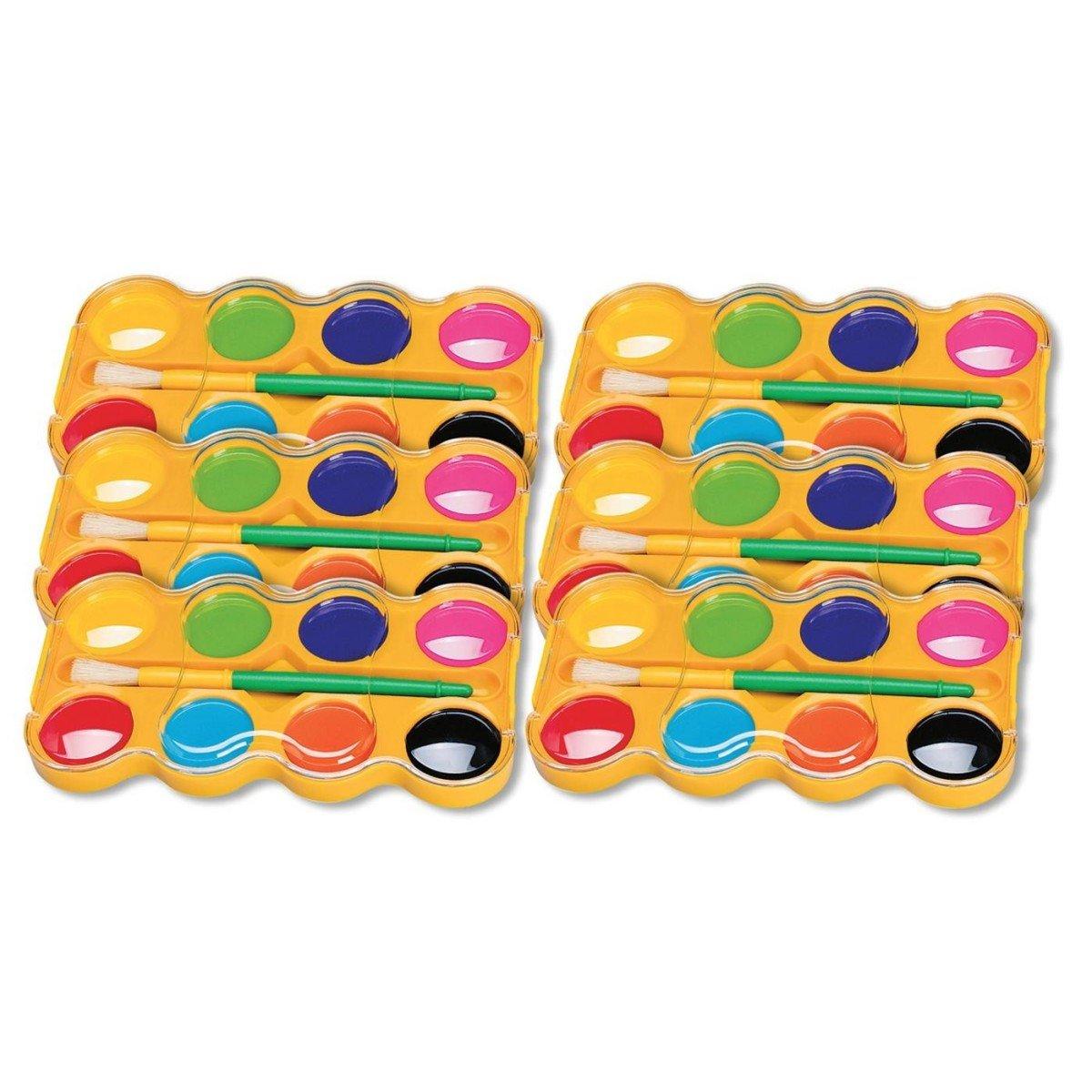 Color Splash! Jumbo Watercolor Trays Bulk Pack (Pack of 6)