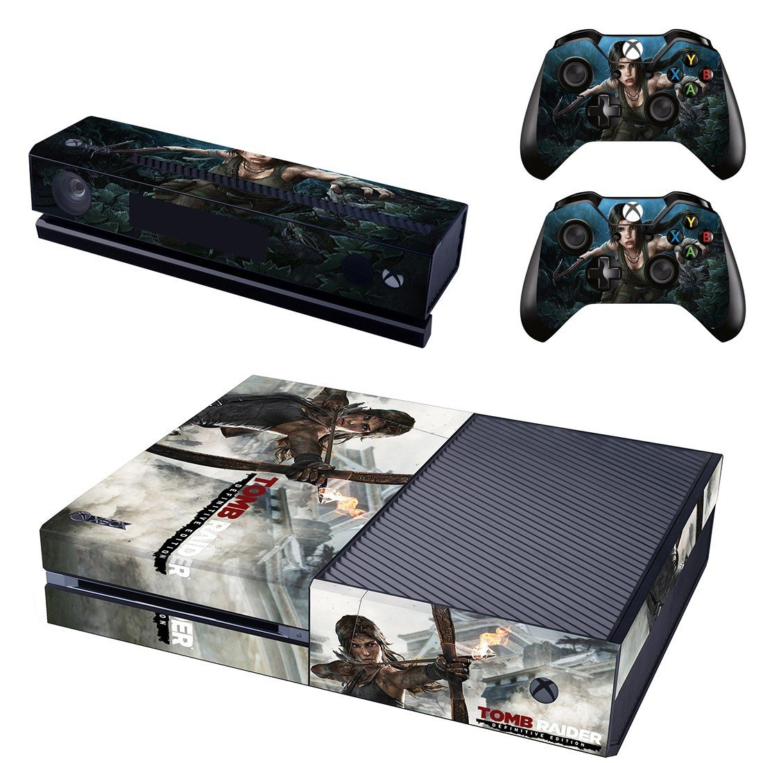 Tomb Raider xbox one skin for console and controllers