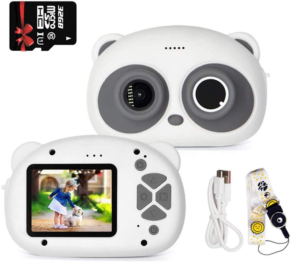 RESRIX Kids Camera, Children's Waterproof Digital Camera, Suitable for Children 1080P 8MP 2.6 inch Large Screen, Send 32GB SD Card, Silicone Handle, The Most Suitable Gift for Children