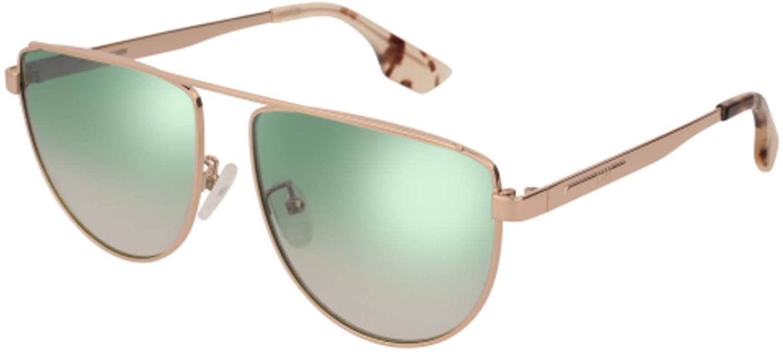 Sunglasses Alexander McQueen MQ 0093 S- 005 Gold/Silver