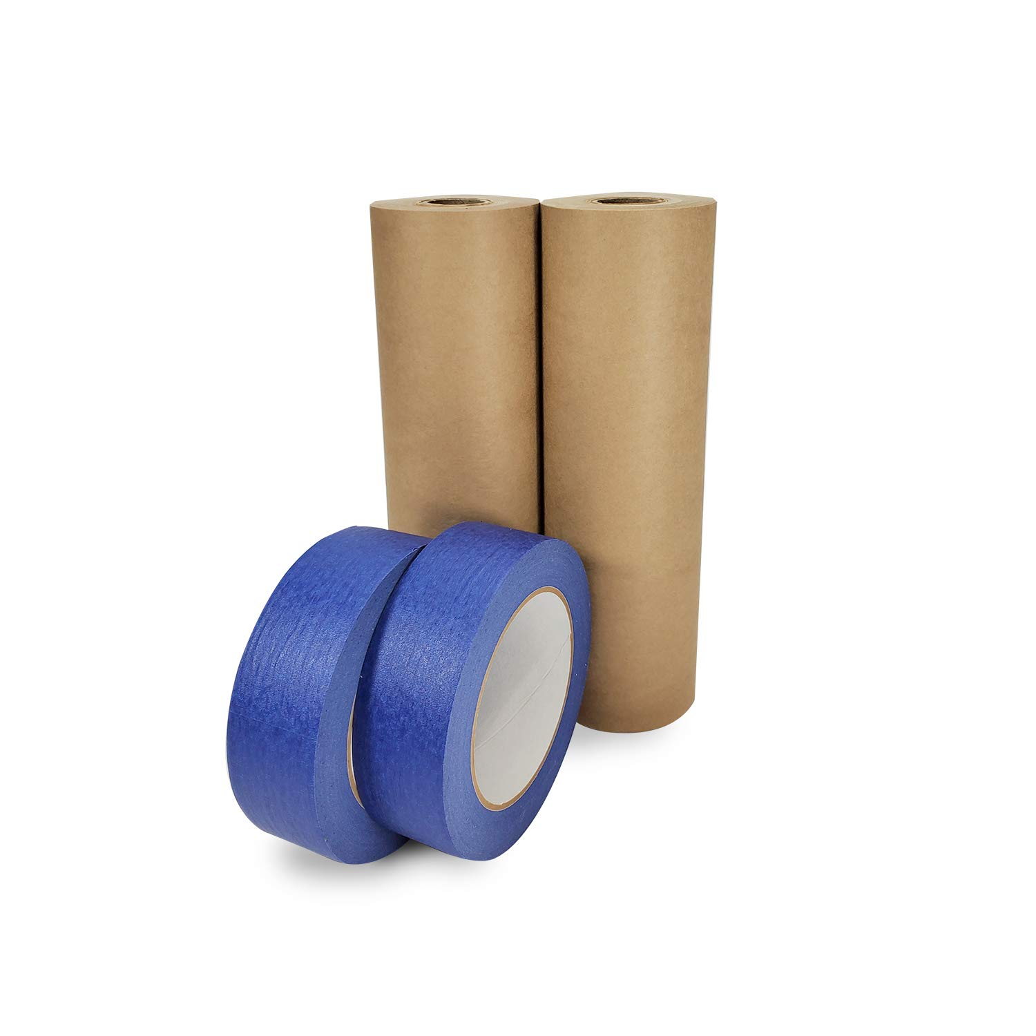 IDL Packaging Masking Paper with Tape Rolls. Brown Masking Paper Roll - 9