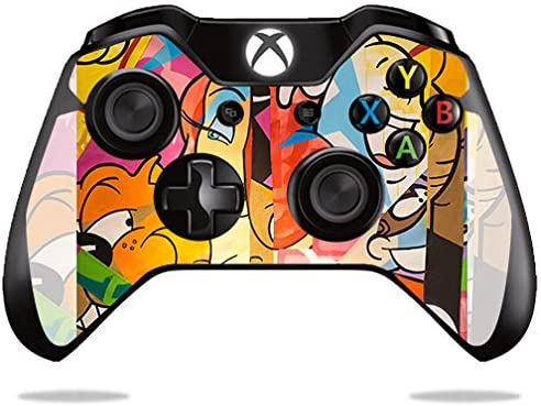 MightySkins Skin Compatible with Microsoft Xbox One or One S Controller - Cartoon Smiles | Protective, Durable, and Unique Vinyl wrap Cover | Easy to Apply, Remove | Made in The USA