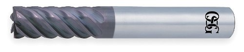 End Mill, Carbide, WXS, 1.0mm, 4 FL, Sq End