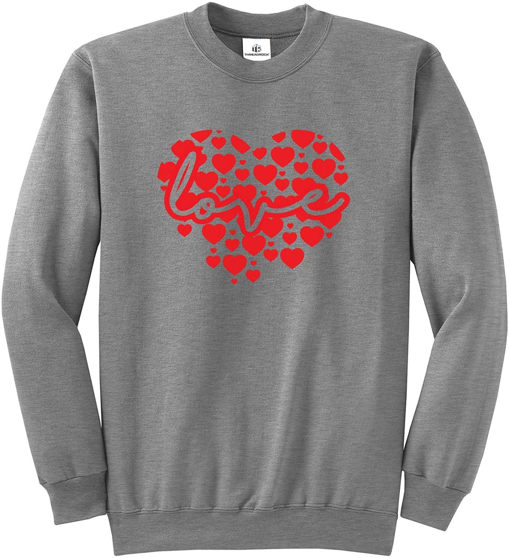 Threadrock Script Love Inside Big Red Heart Unisex Sweatshirt
