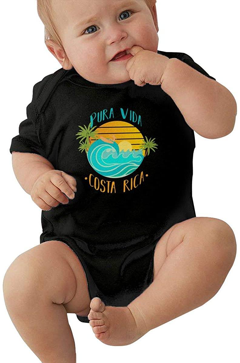 Pura Vida Costa Rica Souvenirs Baby Short-Sleeve Onesies Bodysuit