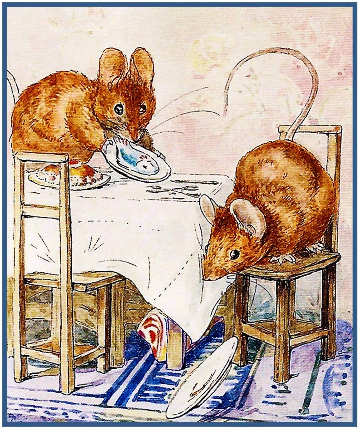 Tale of 2 Bad Mice Inspired by Beatrix Potter Counted Cross Stitch Pattern