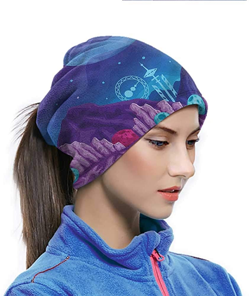 Bandana Boys Room, Space Inspired Drawing Sundust-proof Bandanas Sun Protection Cool Lightweight Windproof Breathable 10 x 11.6 Inch