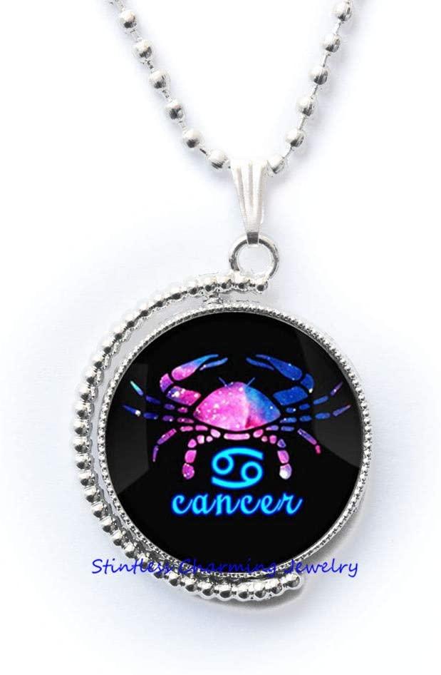 stintless charming Jewelry Zodiac Constellation Necklace, Constellation Necklace, Zodiac Necklace, Cancer Necklace, Birthday Necklace-JV34
