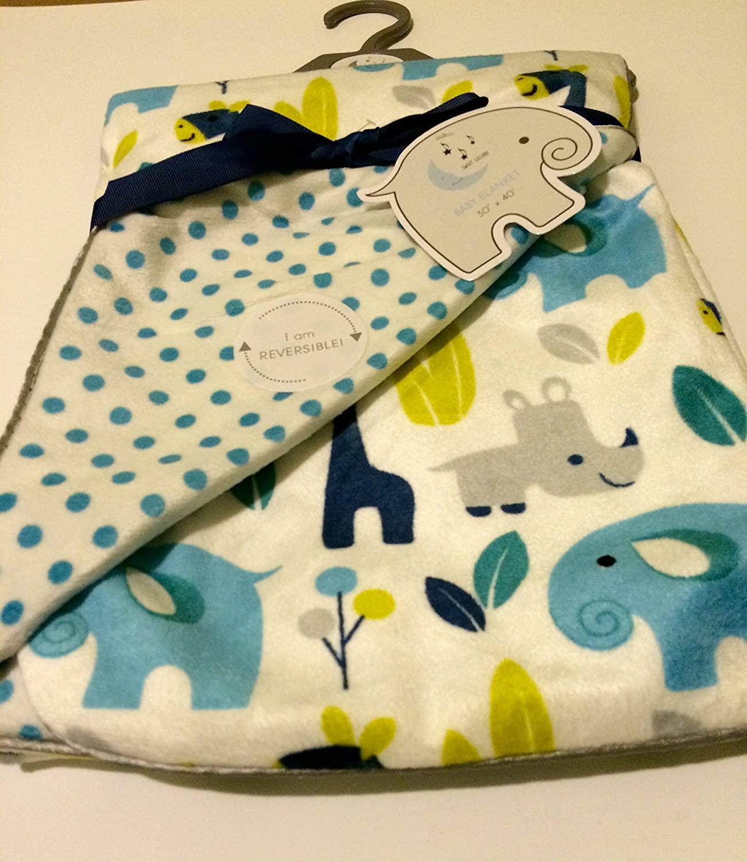 Baby Blanket Modern Jungle Boy Reversible