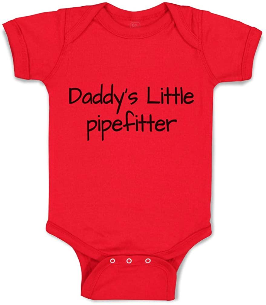 Custom Baby Bodysuit Daddys Little Pipefitter Welder Dad Fathers Day B Cotton