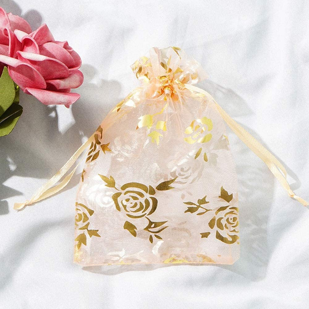 RuiXia Gift Bag -100 Mesh Bag Ornament Bags, Christmas Decorations, Candy Beam Port Bags, Storage Consolidation Bags, Organza Plain Organza Bags, Fine Bags Exquisite (Color : 3, Size : 10CM)