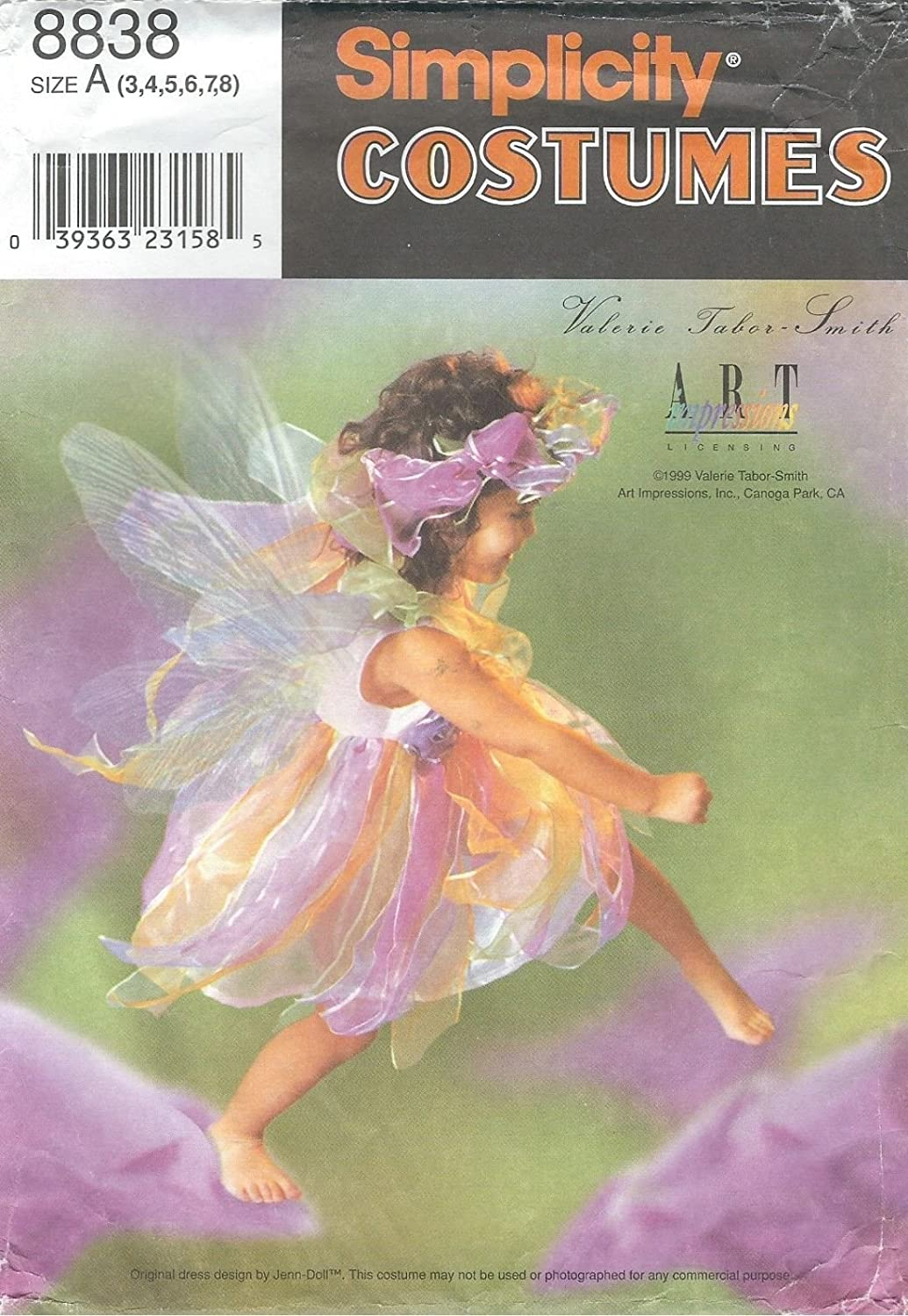 Simplicity 8838 Girls Fairy Costume with Wings 3 to 8 Sewing Pattern supplier:sailorsparadise