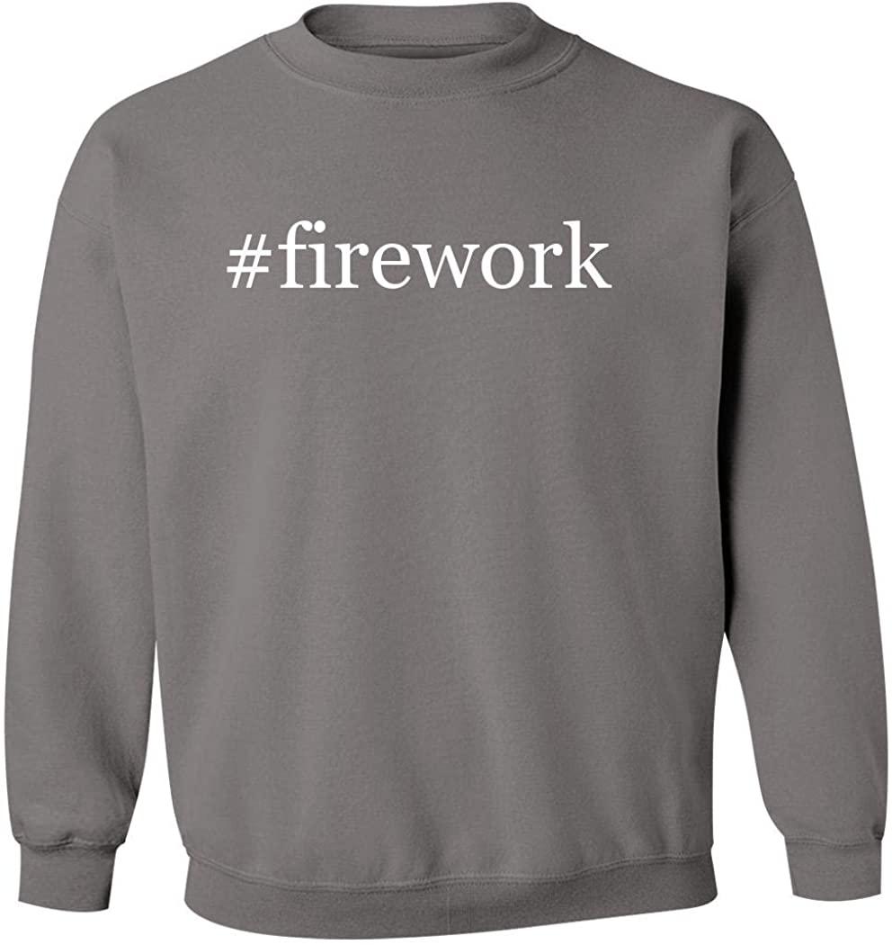 #firework - Men's Hashtag Pullover Crewneck Sweatshirt, Grey, Medium
