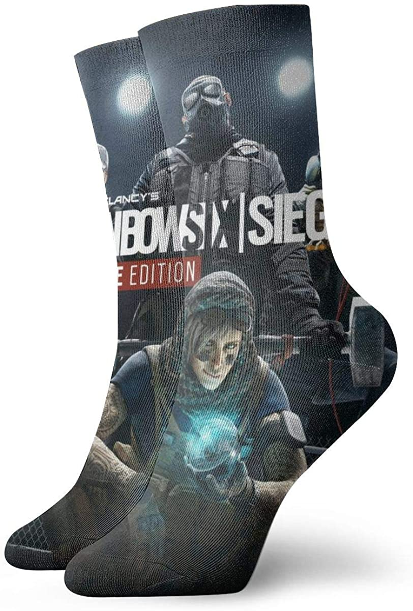 Unisex Rainbow Six Siege Athletic Stockings Crew Socks Sports Outdoor For Men Women