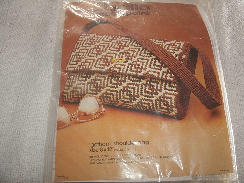 Vintage Bucilla #4949 Gotham 8 X 12 Shoulder Bag Needlepoint Kit