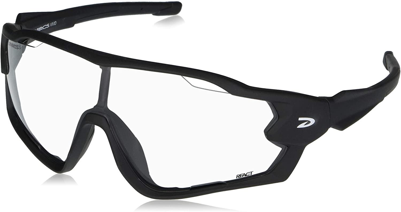 QiK Sports DARCS Vivid Photochromic Sunglasses - Photochromic 100% UV Protection Lens, Black