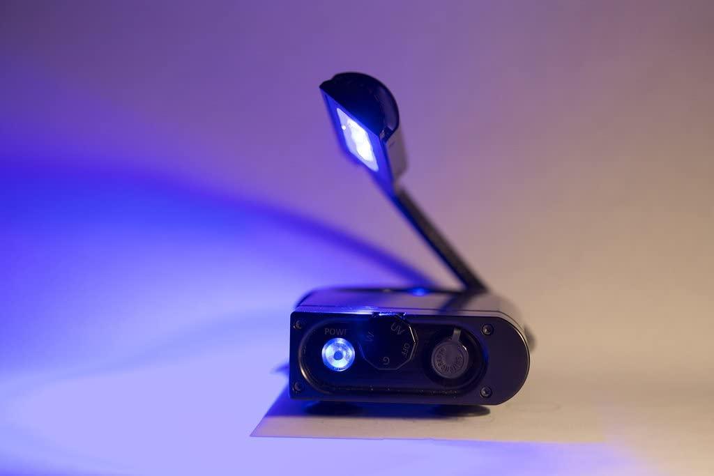 ILLUMILON Portable Fishing Blacklight, Commercial Grade Flex-arm for Light Alignment,180 Degree Pivotal LED Head, Adj. 300 Lumen White Cree LEDs, Adj. 340 Green Cree LEDs, Microprocessor