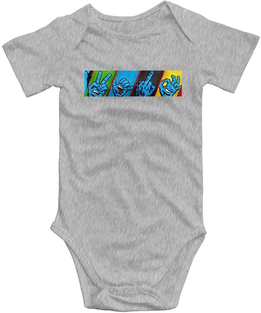 Santa Cruz Screaming Hand Baby Bodysuit Blink Climbing Clothes Gray 18 Months