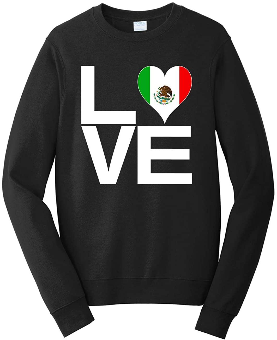 Tenacitee Men's Love Block Mexico Heart Sweatshirt