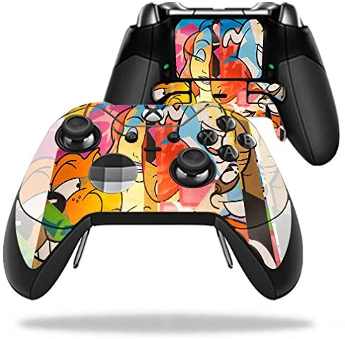 MightySkins Skin Compatible with Microsoft Xbox One Elite Controller - Cartoon Smiles | Protective, Durable, and Unique Vinyl wrap Cover | Easy to Apply, Remove, and Change Styles | Made in The USA