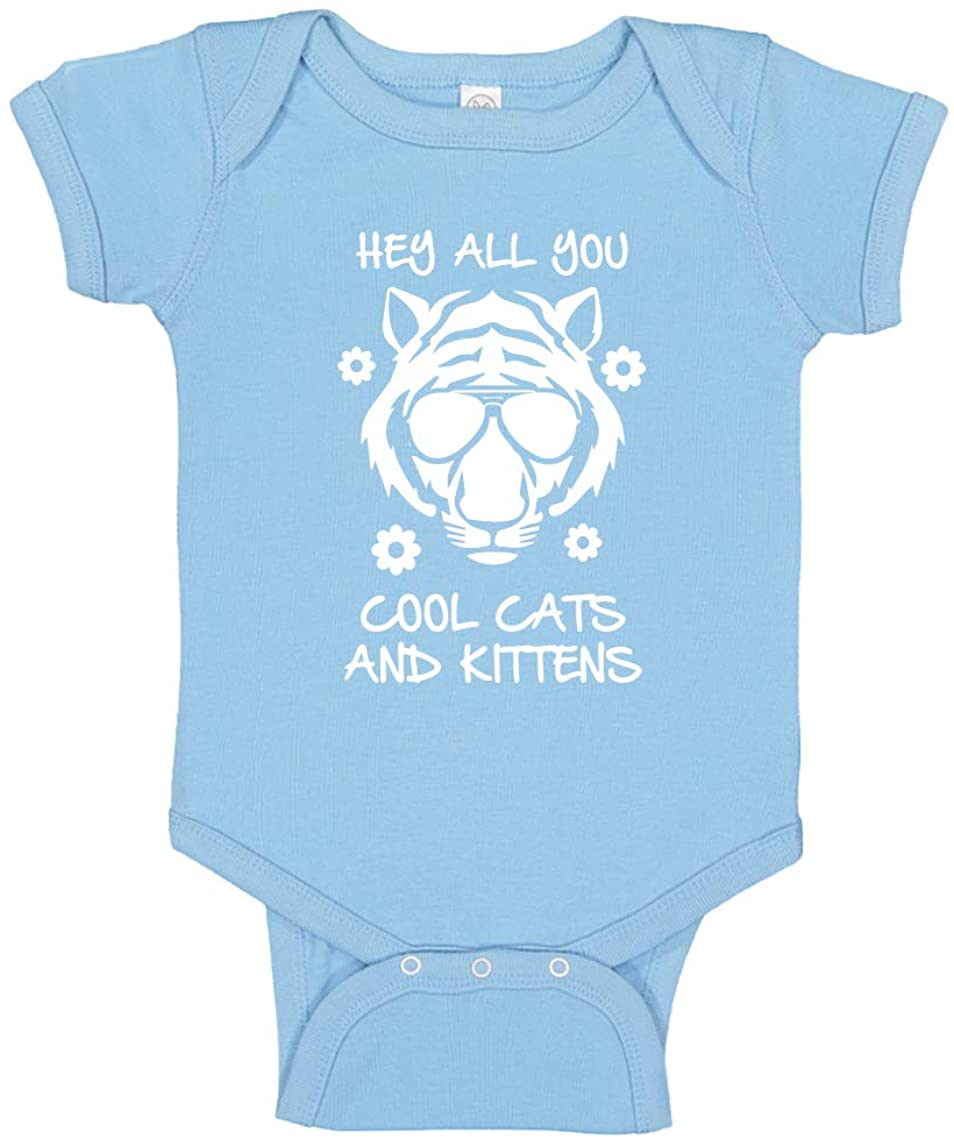Baby Romper Hey All You Cool Cats and Kittens 100% Cotton Infant Bodysuit