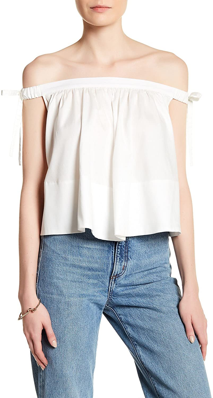 Cynthia Rowley Women's Off-The-Shoulder Blouse White Size Medium