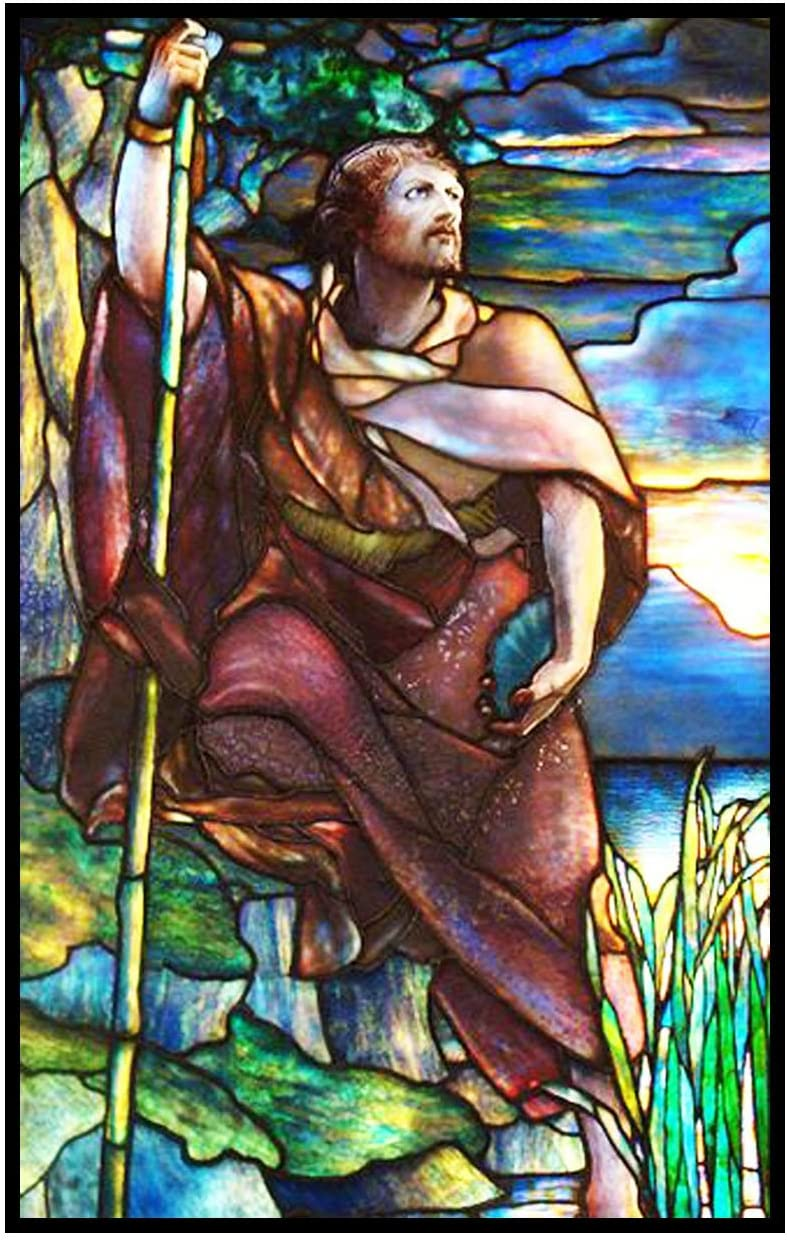 Orenco Originals St John The Baptist by Louis Comfort Tiffany Counted Cross Stitch Pattern