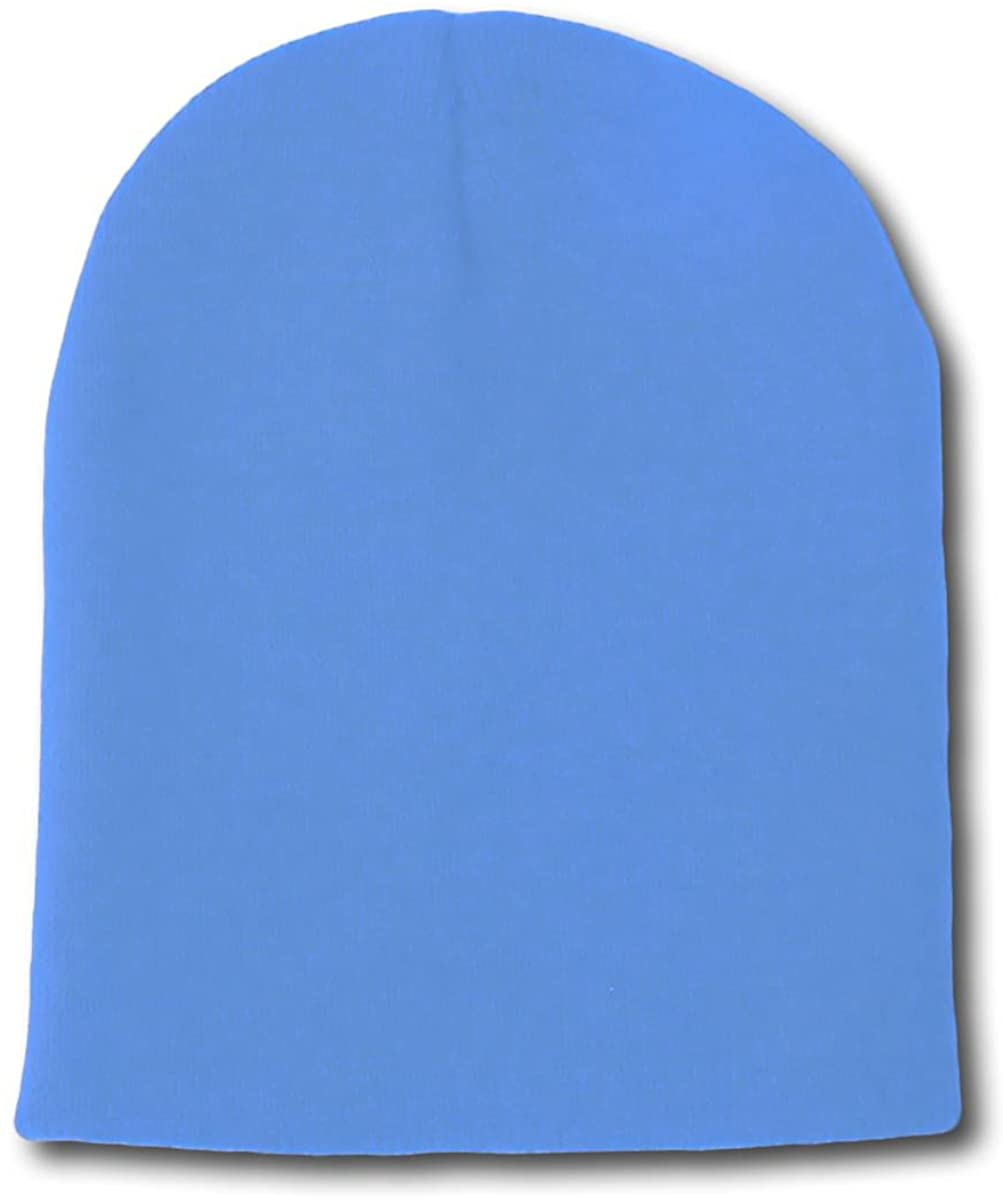 Solid Winter Short Beanies (Comes in Many, Sky Blue