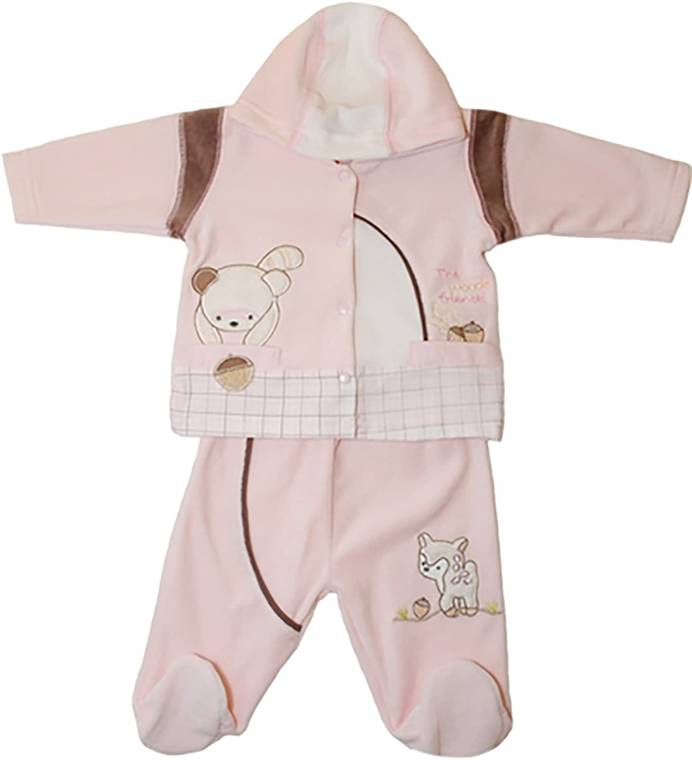 BABY SET-JACKET AND PANTS (pink)