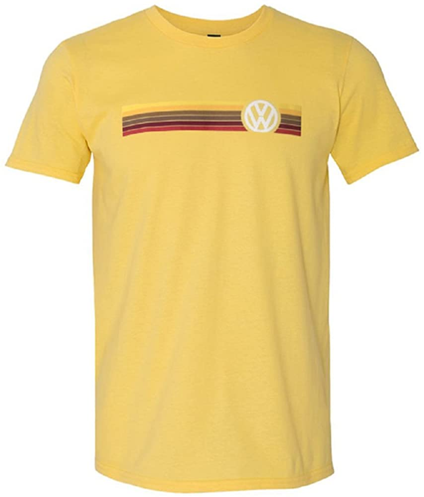 Volkswagen Stripes T-Shirt (Large) Yellow