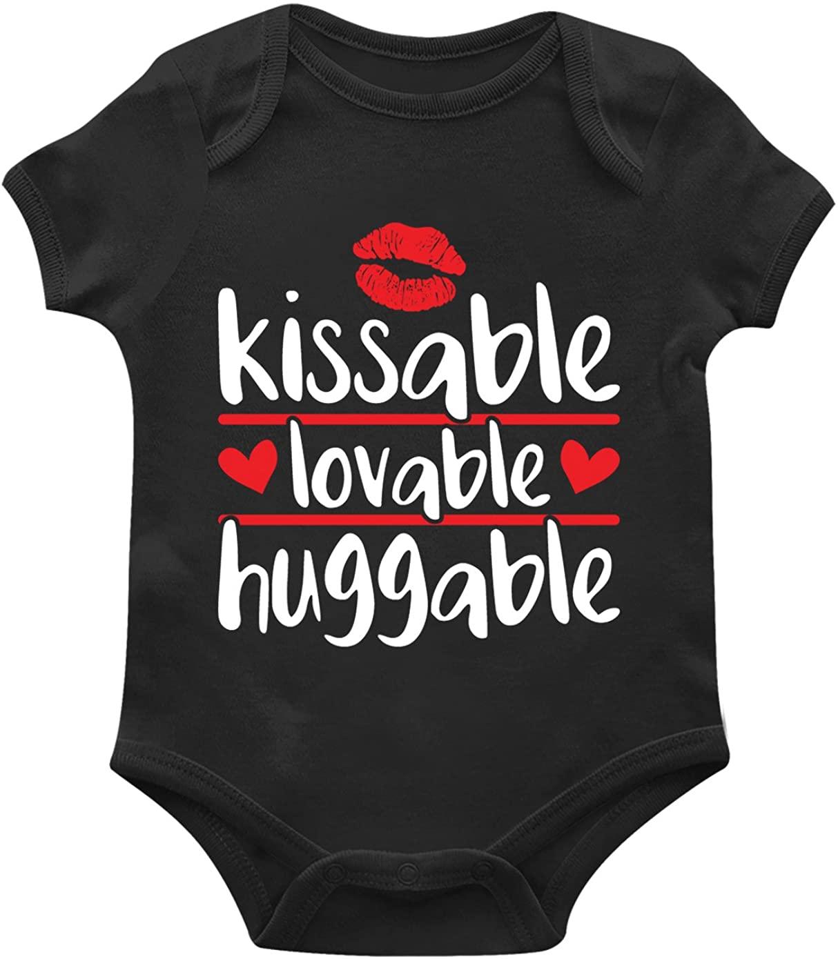 SpiritForged Apparel Kissable Lovable Huggable Infant Bodysuit