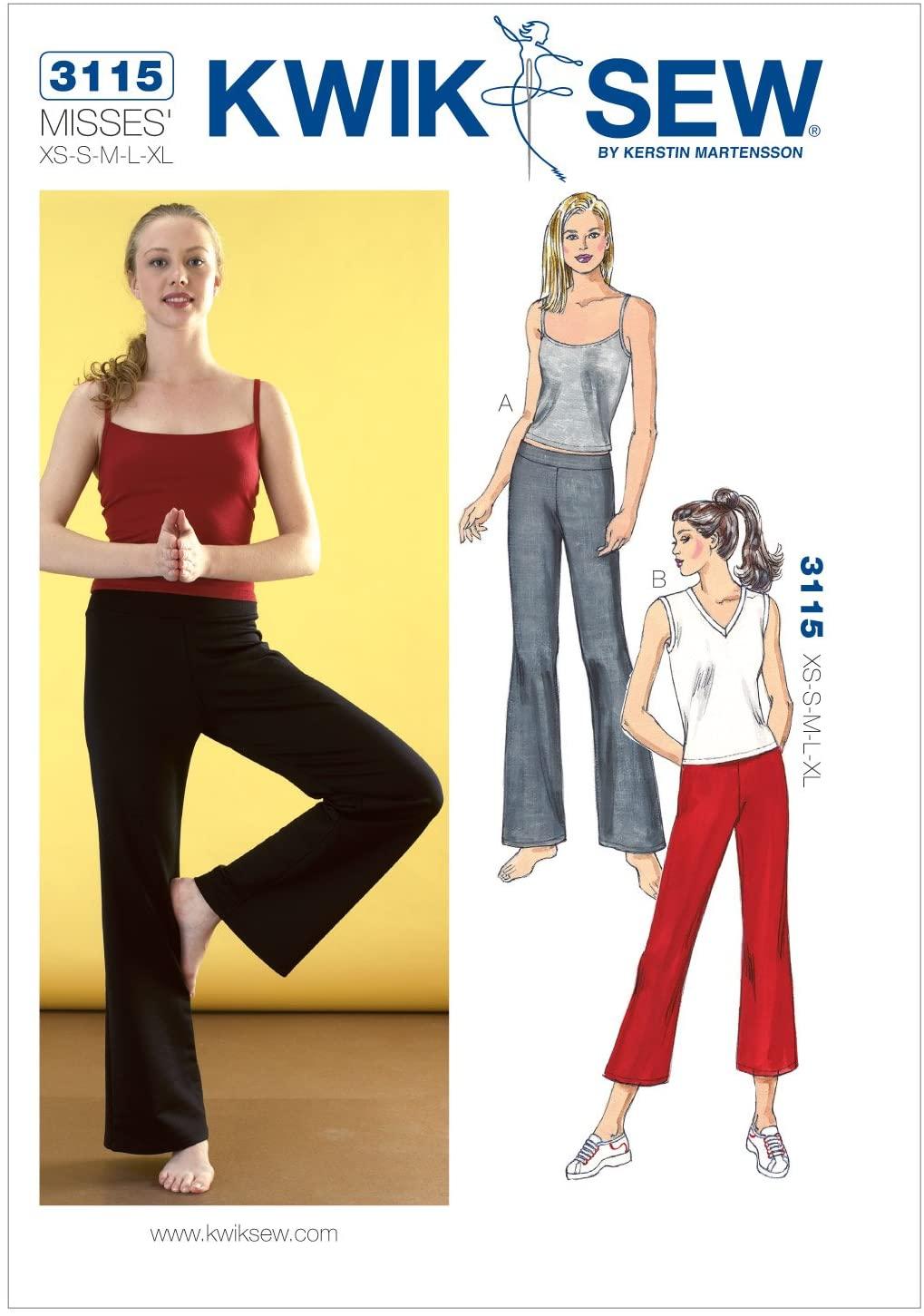 Kwik Sew K3115 Pants and Tops Sewing Pattern, Size XS-S-M-L-XL