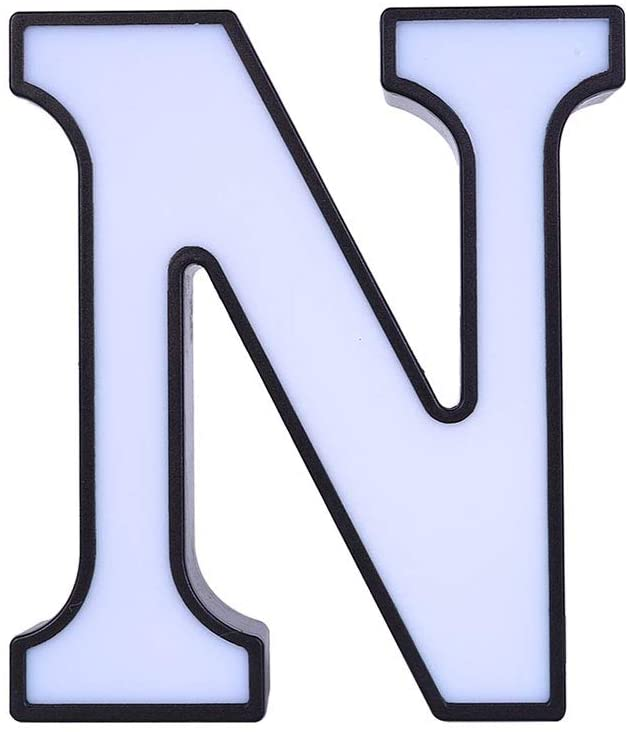 Zebery Decorative Led Light Up Number Letters, White Plastic Marquee Number Lights Sign Party Wedding Decor Battery Operated