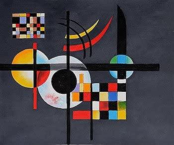 Art Needlepoint Gravitation by Kandinsky Needlepoint Canvas